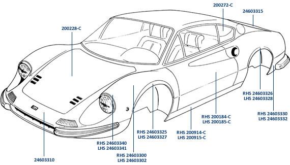 Body Parts For Ferrari 206 Amp 246 Superformance